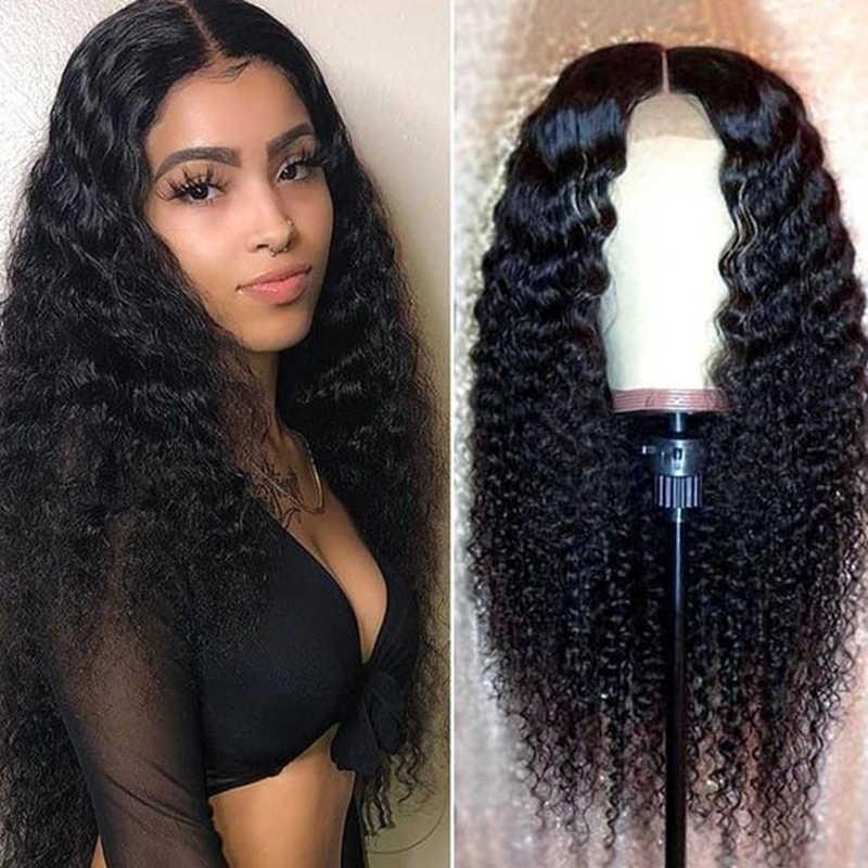Głębokie kręcone koronki przodu peruka Pre oskubane linia włosów z dzieckiem włosów bielone węzłów Remy włosy brazylijski koronki przodu włosów ludzkich peruki