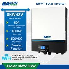 EASUN de inversor Solar 8000W 230V 48V 48V 50hz/60hz 500vdc de entrada PV 80A MPPT Cargador Solar incorporado en WIFI soporte bateria de litio para bibicleta BMS