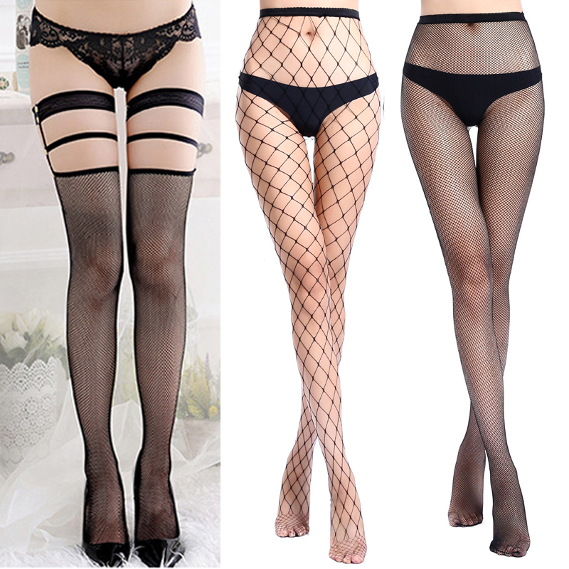 1/2/3pcs Women Sexy Erotic Stockings Female Over Knee Thigh High Stockings Fishnet Pantyhose Party Club Net Sexy Mesh Stockings