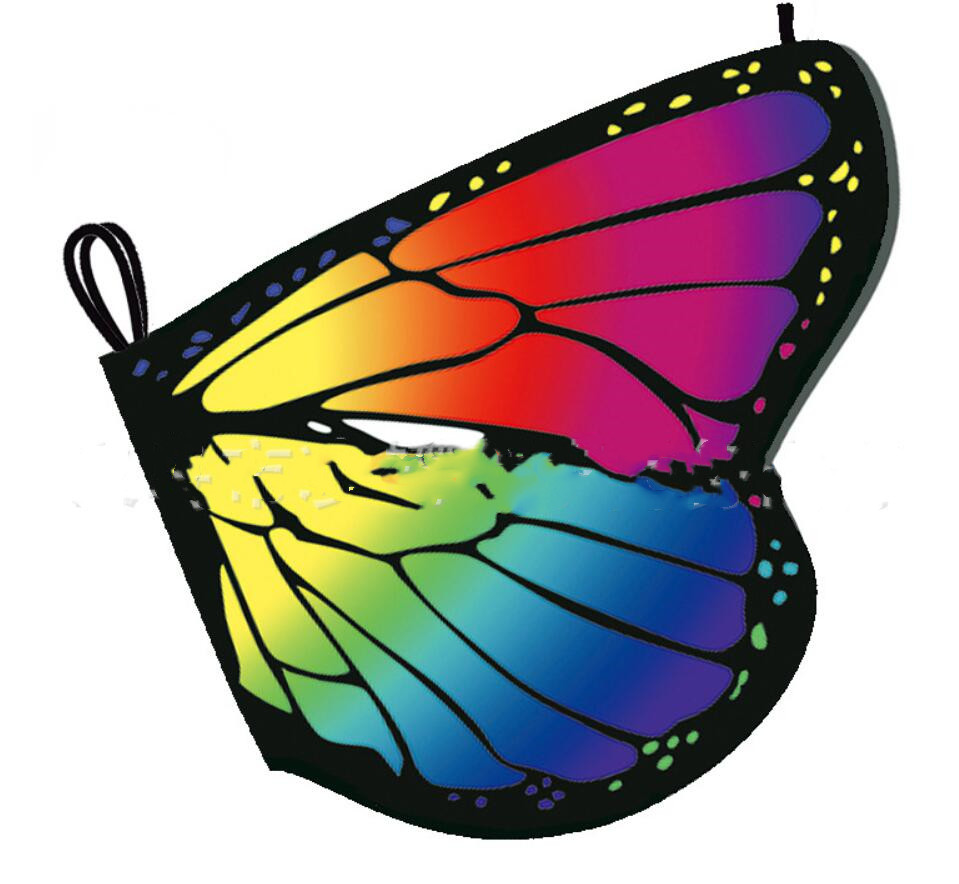 Butterfly Wings Shawl Fairy Adult Kids Girls Nymph Pixie Costume Accessory Cape