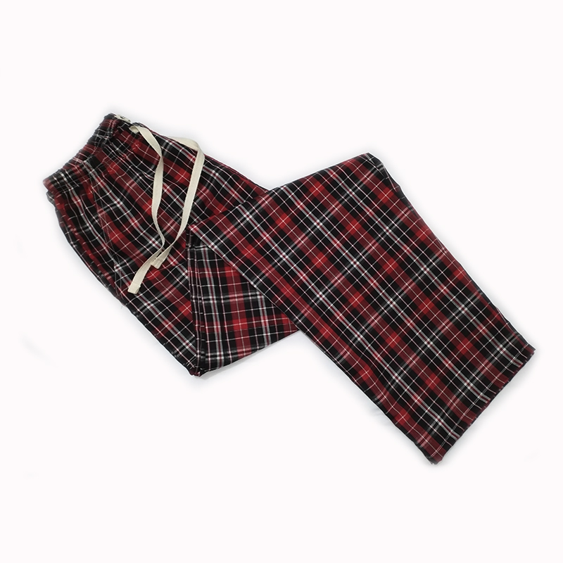Cheap Loose Pants Cotton Plaid Spring Summer Women's Sleep Bottoms Pajamas Bottoms Sleepwear Pants Women Pyjamas Pants Home Wear