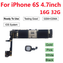 Free iCloud Unlocked for iPhone 6S motherboard for iPhone 6S 4.7'' 16GB 32GB  logic board with Full Chips Mainboard new 5 rca 6 ft component audio video av cable cord for nintendo wii hdtv hd premium free shipping