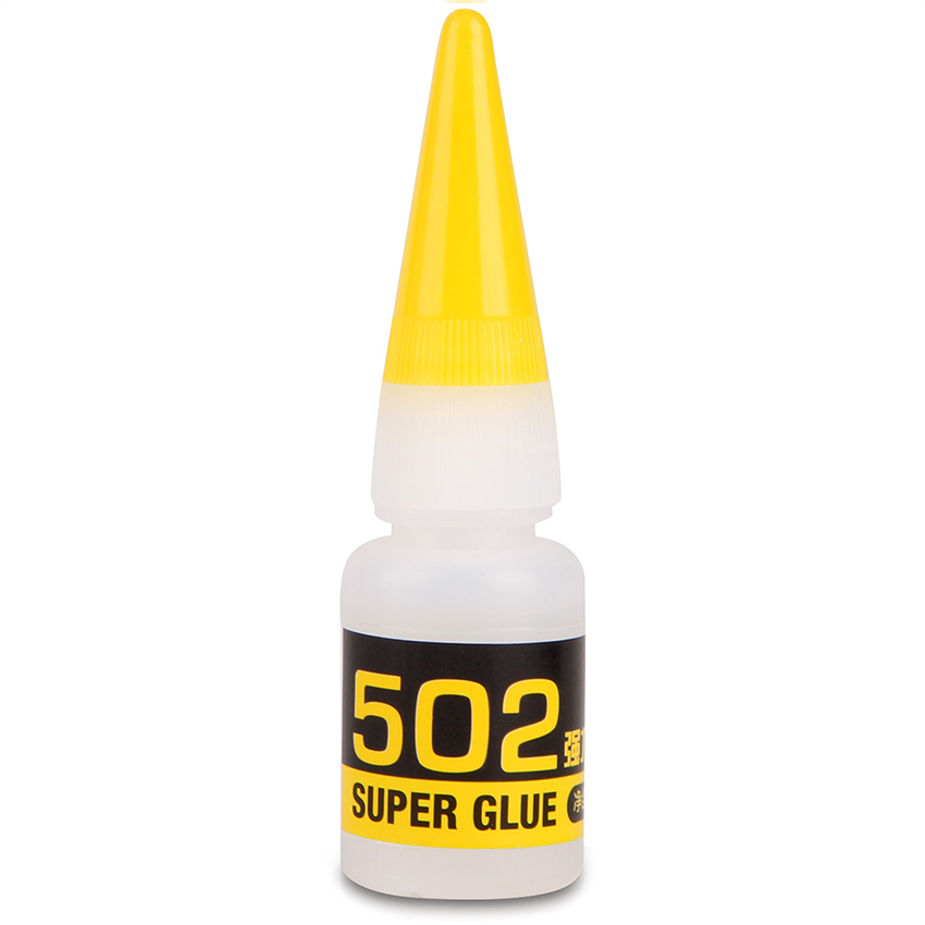 Super 502 Glue, Clear, 8g, Quick-drying Glue Plastic & Rubber Instant Adhesive Strong Adhesive Glue for Metal Wood Leather