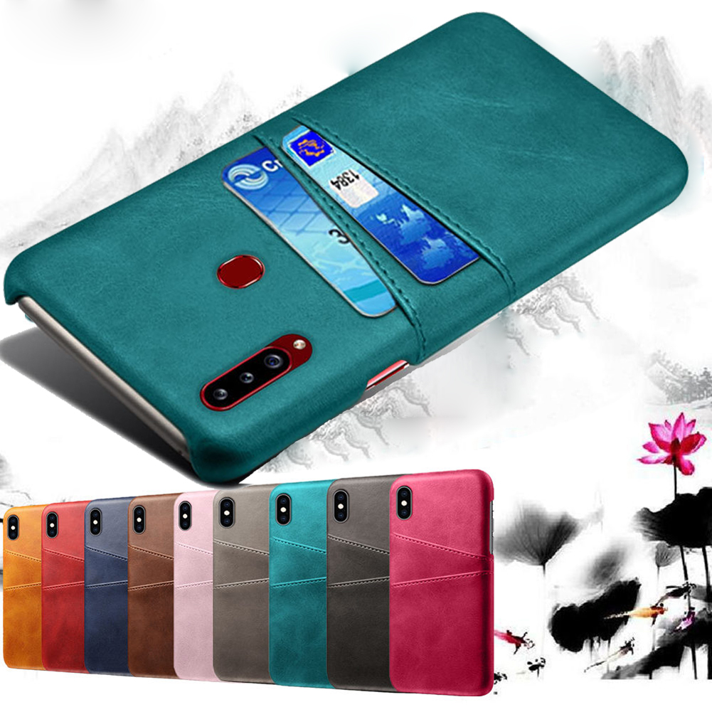 Luxury Leather Card Slot Shockproof Business Wallet Case for <font><b>Samsung</b></font> Galaxy A51 A50 <font><b>A80</b></font> S20 S10 s9 Note 9 10 Plus <font><b>Cover</b></font> Case image