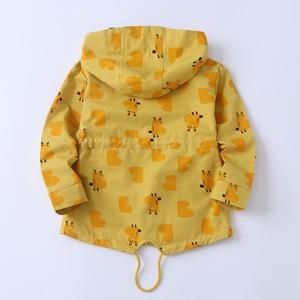 Image 2 - Куртка детская с капюшоном, на молнии, с большими карманами, 90 135 см