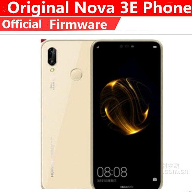 Huawei p20 lite nova 3e telefone 5.84 ''global, android 8.0 4g lte face id frontal 24mp dual câmeras traseiras 4gb 128gb