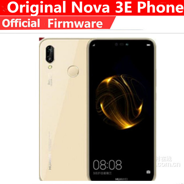 Huawei P20 Lite Nova 3e Telefoon 5.84 Global Rom Android 8.0 4G Lte Gezicht Id Voorkant 24.0MP Dual achter Camera Smartphone 4Gb 128Gb