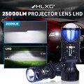 25000LM H4 объектив светодиодный лампы Bi-светодиодный мини проектор линзы автомобильные лампы для фар машины Противотуманные фары Hi/короче спе...