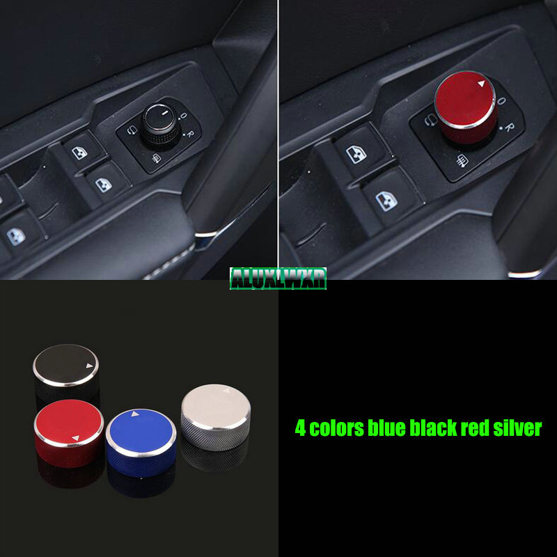 Rearview Mirror Adjustment Knob Button/Switch Covers Internal Decoration For VW Volkswagen Tiguan Sharan t-roc 2017 2018 2019 image