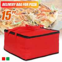 """15"""" Waterproof Insulated Bag Cooler Bag Insulation Folding Picnic Portable Ice Pack Food Thermal Bag Food Delivery Bag Pizza Bag