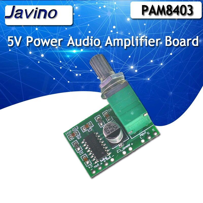 PAM8403 5 в усилитель мощности аудио Плата 2 канала 3 Вт регулятор громкости/USB мощность