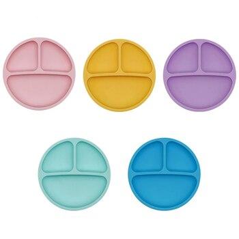 Naczynia dla dzieci dziecko silikonowa przyssawka miska dziecko uśmiech płyta czołowa zestaw stołowy uśmiech twarz dziecko zestaw stołowy talerzyk dla dzieci karmienie