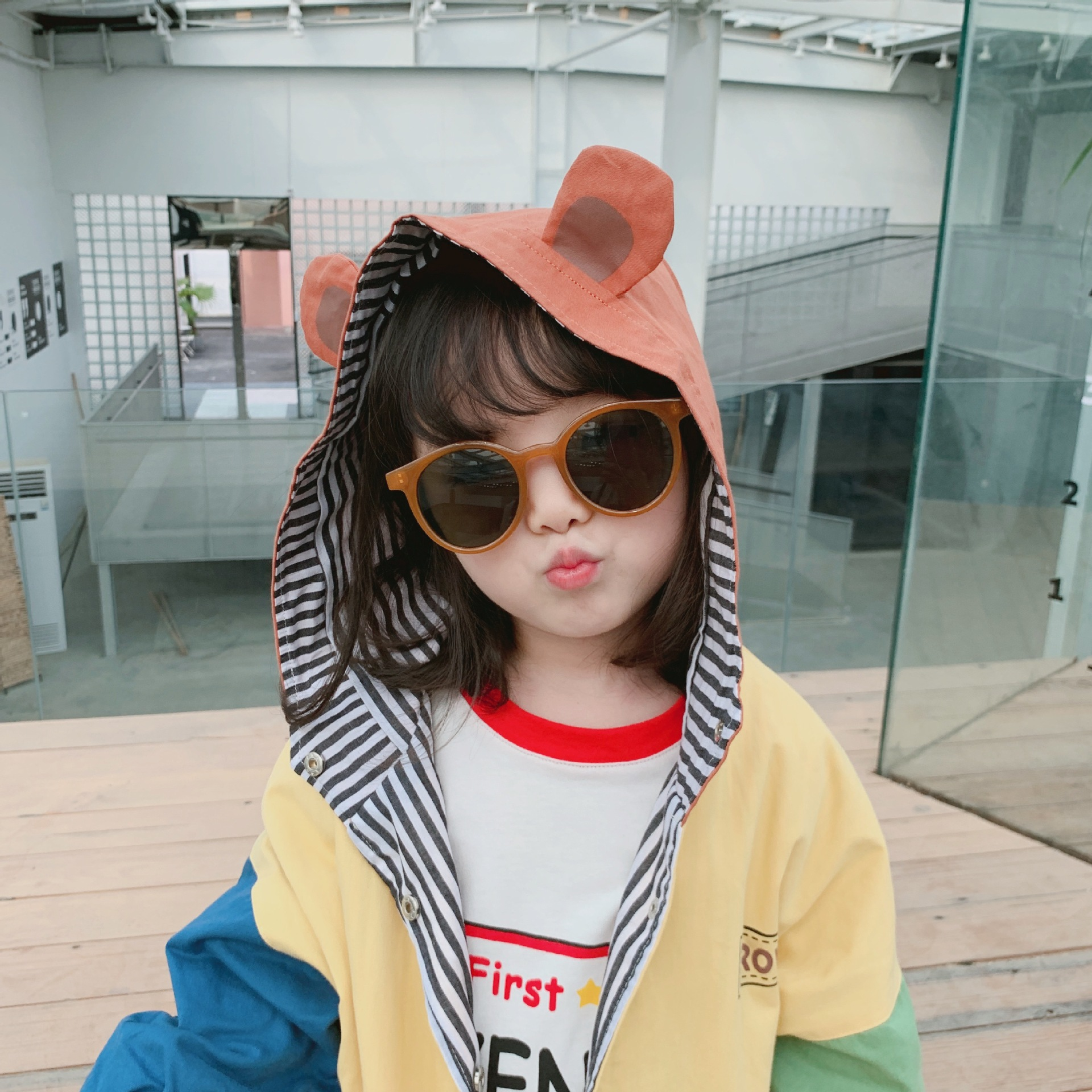 Autumn Kids Little Boys Cool A Sheep with a Bowtie Styles Baseball Jacket Outwear