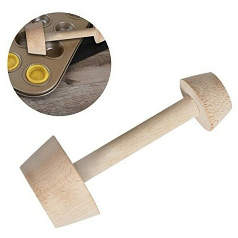 Double Side DIY Baking Wood Egg Tart-Tamper Pastry Pusher Shaping Kitchen  Tools