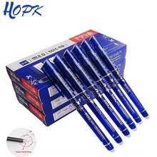 Stylo effaçable 3/6/12 pièces/ensemble, poignée lavable, stylo bleu/noir/rouge 0.5mm, tige de recharge pour fournitures de bureau, pièce de rechange pour étudiant