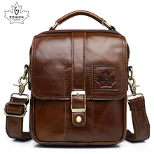 Mens Genuine Leather Bag Shoulder Bag Belt Bags Messenger Bags Men Handbag 2019 Fashion Flap Crossbody Luxury Handbag ZZNICK