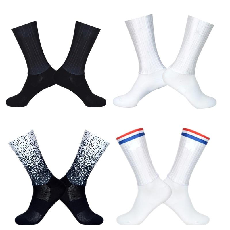 Летние воздухопроницаемые велосипедные носки, мужские Нескользящие бесшовные велосипедные износостойкие дорожные носки, велосипедные носки Носки для велоспорта      АлиЭкспресс