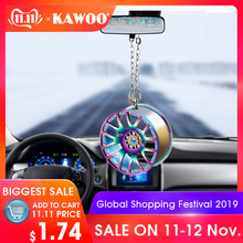 Car Pendant Ornaments Metal Wheel Hub Flywheel Hanging Hip-hop Auto Interior Rea