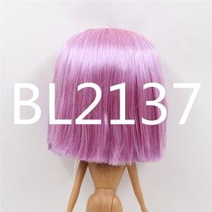 Image 3 - Blyth הבובה קפוא פאה רק rbl קרקפת הכיפה ישר שיער שמנוני שיער שמנוני שיער צעצוע קרקפת