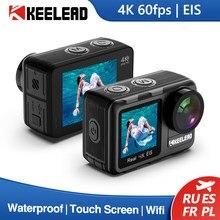 KEELEAD K80 Action Camera 4K 60FPS EIS 5-40M Waterproof Helmet 20MP 2.0