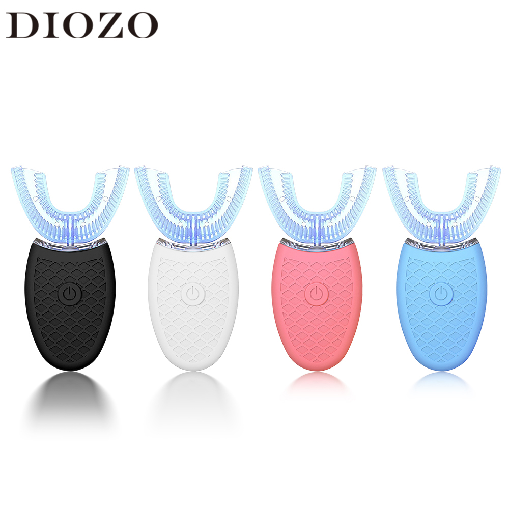 Wireless Automatic Electric Toothbrush Teeth Whitening Tooth Cleaner 360 Degrees U Type USB Silicone Teeth Brush