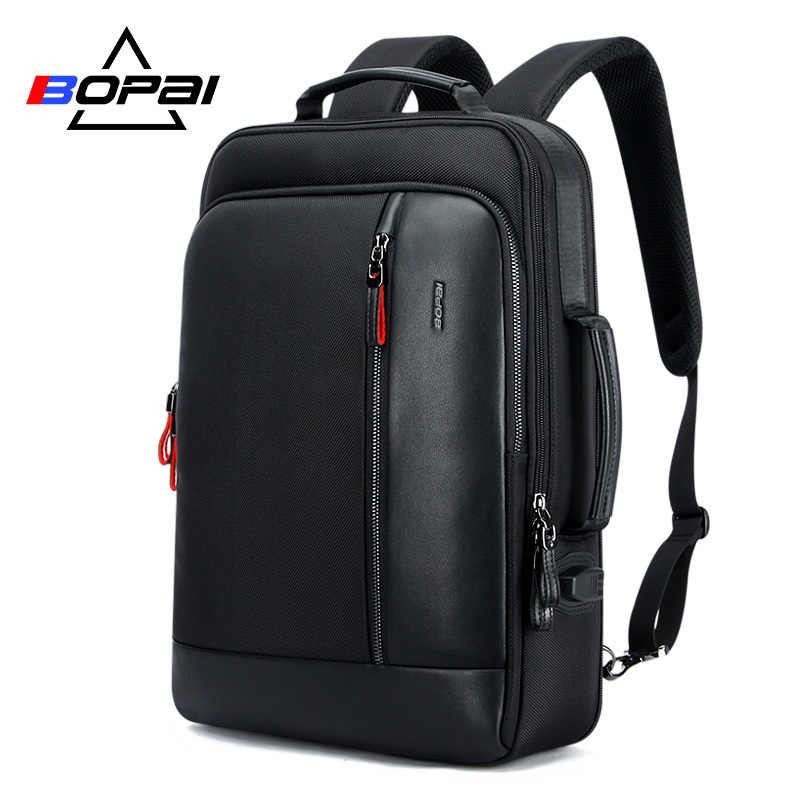 Bopai Multifunctionele Usb Opladen Mannen 15.6 Inch Laptop Rugzak Anti Diefstal Vergroten Mannen Reizen Rugzak Voor Tiener Drop Shipping