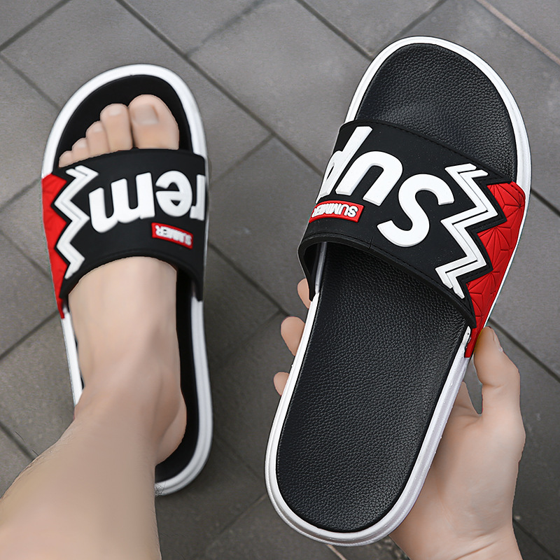 2020 New Style Couples Slipper Spring Summer Slippers Men Slippers Male Indoors Outdoors Anti-slip Wear-Resistant Men Sandals