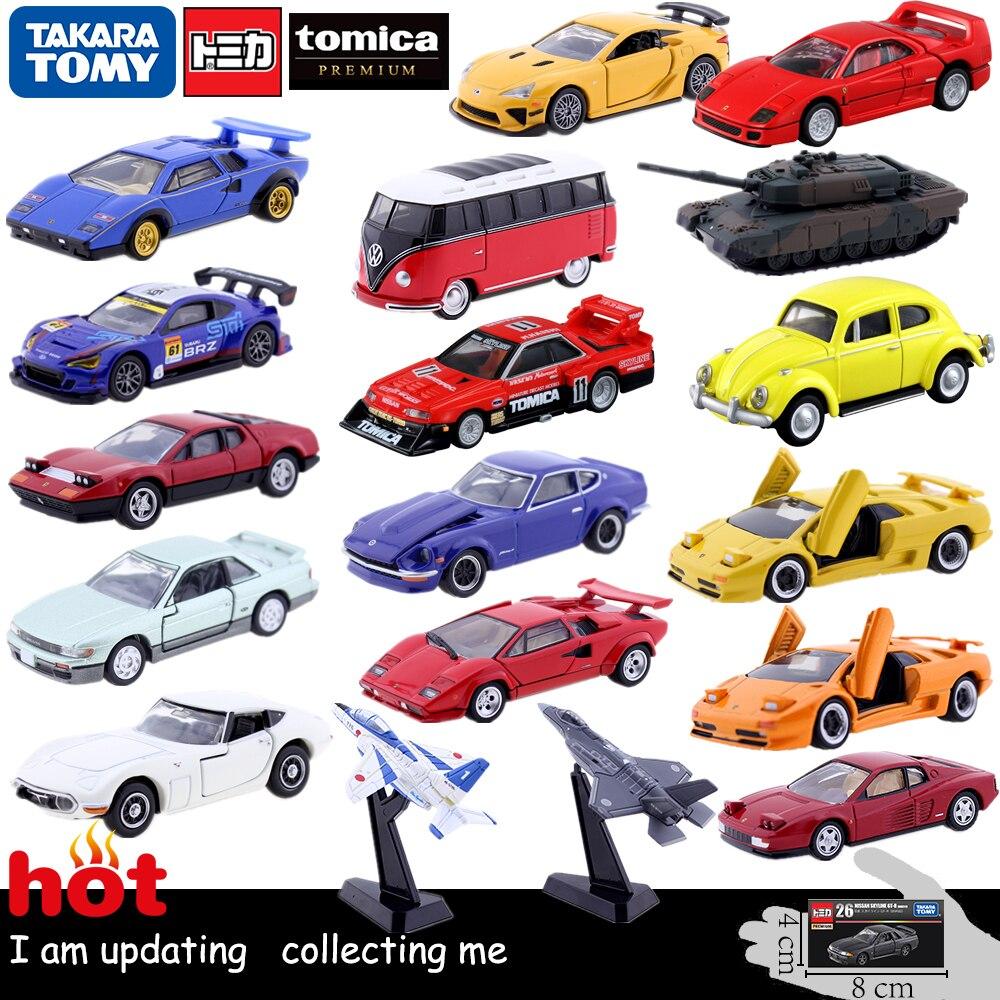 Discount Tomy Tomica Premium Car Toy Tank Plane Vehicles HONDA NISSAN GTR Porsche TOYOTA Subaru Cars Diecast Toy Model Kit Toys