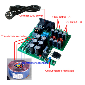 Image 2 - لوسيا 3 مرحلة تصفية 50 واط تيار مستمر إمدادات الطاقة الخطية DC12V لرفع مستوى الصوت المتكلم المعدات ذات الصلة NAS CAS PC HiFi A8 009