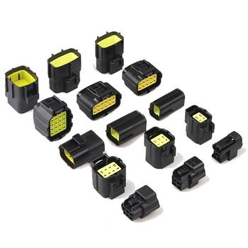 цена на 1 set 1/2/3/4/6/8/10/12/16 Pin way Denso 1.8 series Male Female Car Auto Waterproof Wire Connector Electrical Plug