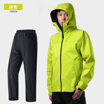 Waterproof Raincoat Jacket Motorcycle Travel Hiking Ladies Hooded Raincoat Outdoor Stylish Chubasquero Mujer Rainwear OO50YY