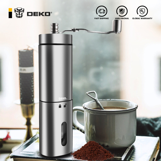 DEKO Hand Manual Coffee Portable Grinder Adjustable Ceramic Coffee Bean Mill Stainless Steel Kitchen Mills Tools 1