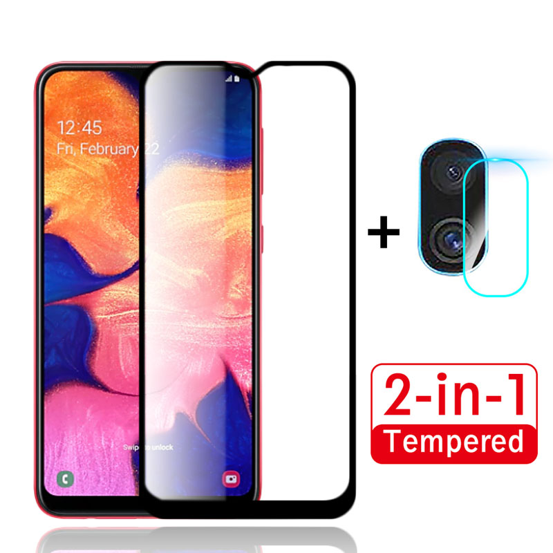2Pcs Protective Glass For Samsung Galaxy A10 Camera Glass Protector On For Samsung A10 A10s A105 A107 A 10 10S Safety Film Armor