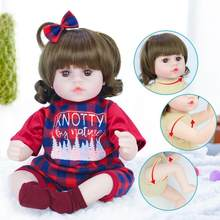 42cm Reborn Baby Doll Adorable Soft Vinly Silicone Lifelike Baby Simulation Bebe Doll Toys For Girls(China)