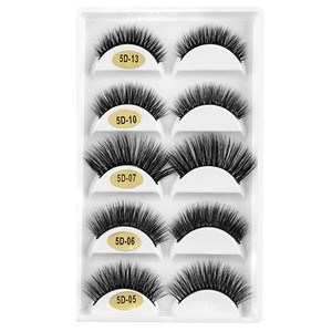 Image 5 - 5 أزواج أنماط مختلطة ثلاثية الأبعاد المنك الشعر الرموش الصناعية اليدوية الطبيعية طويلة رمش Wispy رقيق متعدد الطبقات جلدة قابلة لإعادة الاستخدام