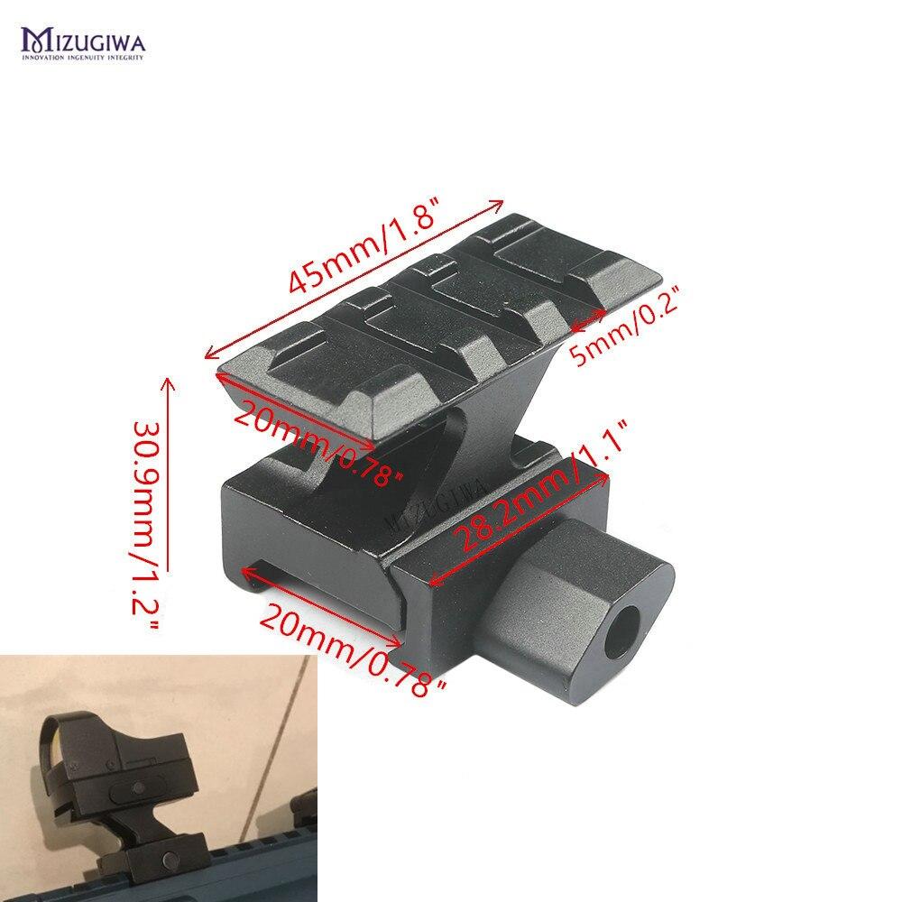 Tactical QD Lockdown Series Lightweight Riser Mount 3 Slot With 20mm Picatinny Rail Weaver Adapter Base Scope Airgun Pistol