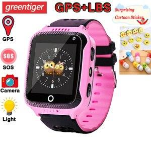 Image 1 - Q528 Kids Smart Watch with Camera Lighting GPS Smart Watch Sleep Monitor SOS Baby Clock 2G SIM Anti lost Childrens Smartwatch.
