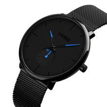 SKMEI Fashion Men Watch Quartz Wristwatches 30M Waterproof Big Dial Display Stainless Steel Quartz Watch relogio masculino 9185 все цены
