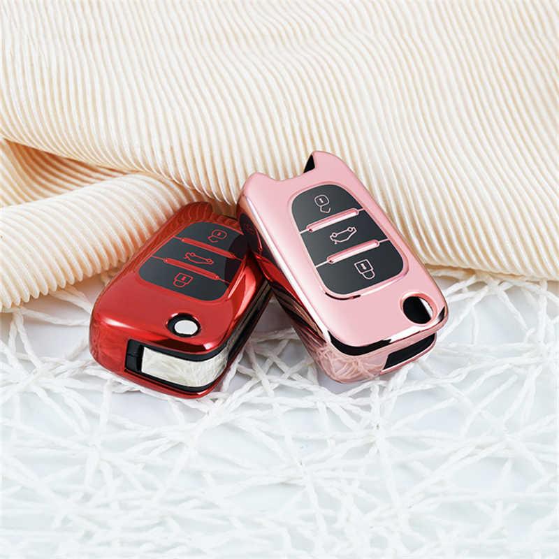 TPU Xe Vỏ Chìa Khóa Dành Cho Xe Kia Ceed Picanto Sportage Dành Cho Xe Hyundai I20 I30 IX35 Vỏ Chìa Khóa Bảo Vệ Chìa Khóa Dây Xích từ Xa Chìa Khóa Chìa Khóa
