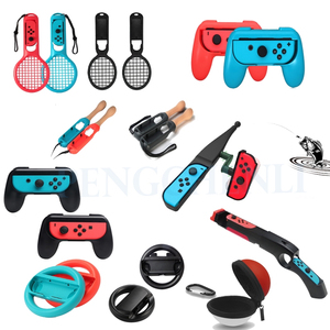 Nintend Switch Game Accessories Kit For Nintendo Switch Joy-con Gaming Controller Handle Grip Gamepad Joystick Holder Stand Set