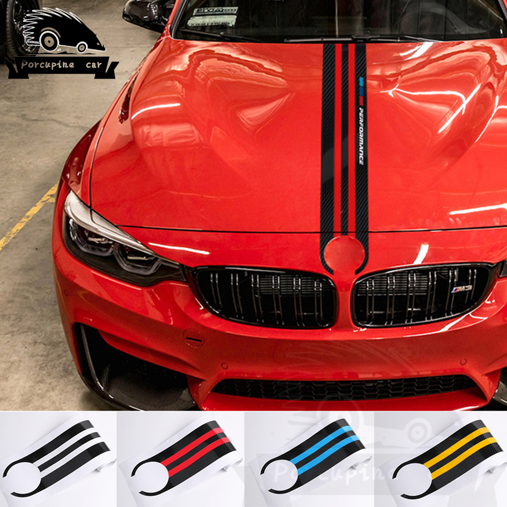 Car Hood Engine Cover Bonnet Racing Performance Decals <font><b>Stickers</b></font> for BMW f30 f31 e90 f34 e46 e39 e60 <font><b>f10</b></font> f11 f20 x5 g30 f36 x3 x4 image