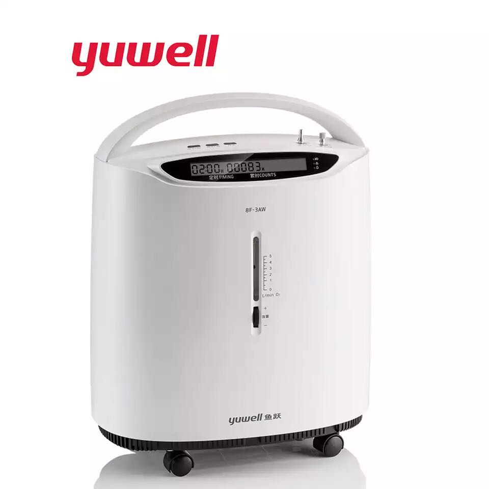 Yuwell 3L Intelligent Portable Oxygen Concentrator Auto Alarm Medical Equipment Home Oxygen Generator Device Nebulizer Portable