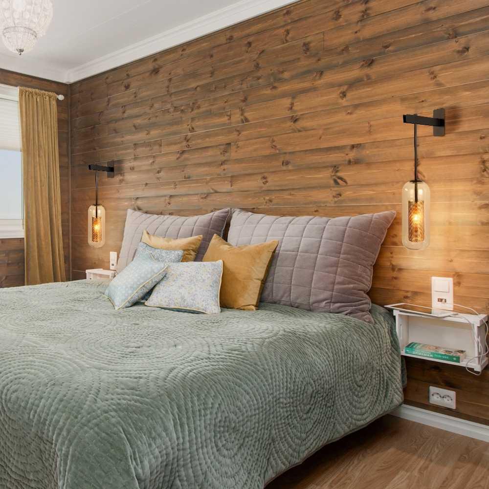 Retro Industri E14 220V Logam Net Shade Lampu Dinding untuk Dapur Ruang Tamu Kamar Tidur Samping Tempat Tidur Restoran Lorong Koridor Dinding cahaya