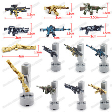 Military Weapons Building Blocks PUBG Camouflage Combat WW2 Set Figures Soldier Special Forces Diy Army Boy Christmas Gifts Toys