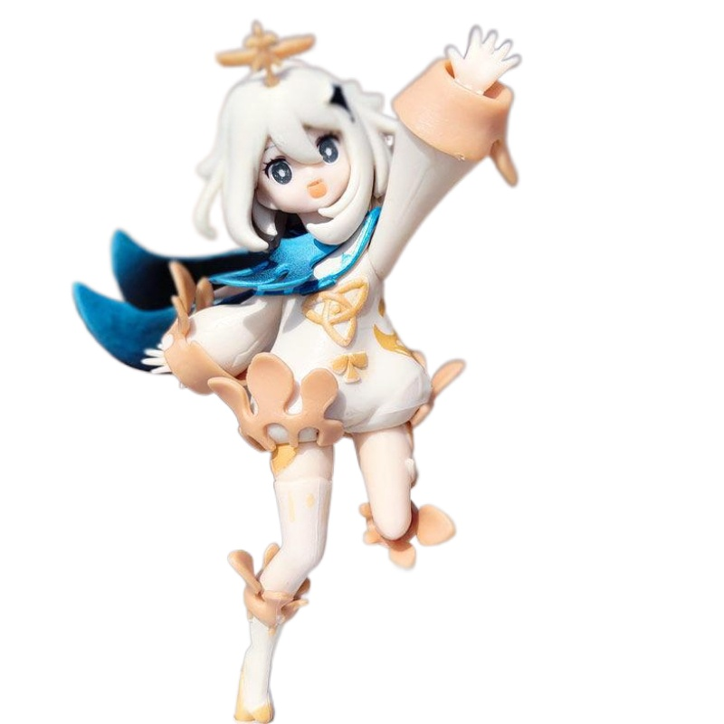 14cm Genshin Impact Paimon Figure Cosplay Cute Static Model Anime Game Character Toy Doll Birthday Christmas Collect Gift