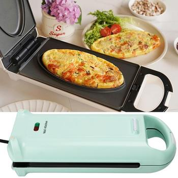 цены Electric Egg Sandwich Maker Mini Grilling Panini Baking Plates Toaster Multifunction Non-Stick Breakfast Machine 220V