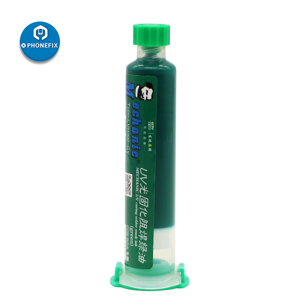 MECHANIC Solder Paste Flux Green UV Light Curing Solder Mask Ink Welding Oil For IPhone Repair BGA PCB Welding Fluxes Green Oil