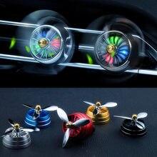 Mini coche LED COCHE ambientador con aroma acondicionado de aleación de escape Perfume Clip fresco aromaterapia fragancia luz ambiente