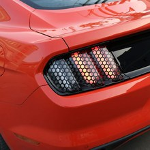 Rear Tail Light Sticker Lamp Honeycomb Stickers Precut Vinyl Tint Cover for 2015-2017 Ford Mustang Tail Lights(China)
