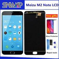 SNLAMP IPS lcd ekran Meizu M2 Not 5.5 inç dokunmatik ekranlı sayısallaştırıcı grup 1920*1080 Çerçeve Ile Ücretsiz Cam filmi Araçları|Cep Telefonu LCD'leri|   -